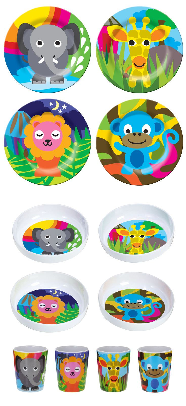 best kids images on pinterest  target sleepover and tray - french bull jungle collection melamine kids plates kids bowls kidsjuice cups