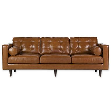"The Oasis Darrin 89"" sofa from JCPenney. Classic. Leather."