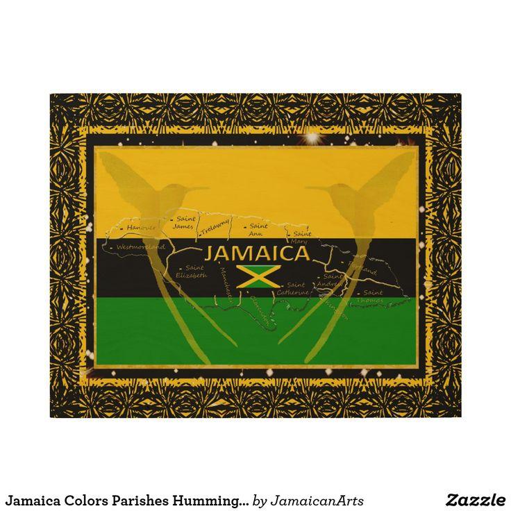 Jamaica Colors Parishes HummingBird Wood Wall Art3