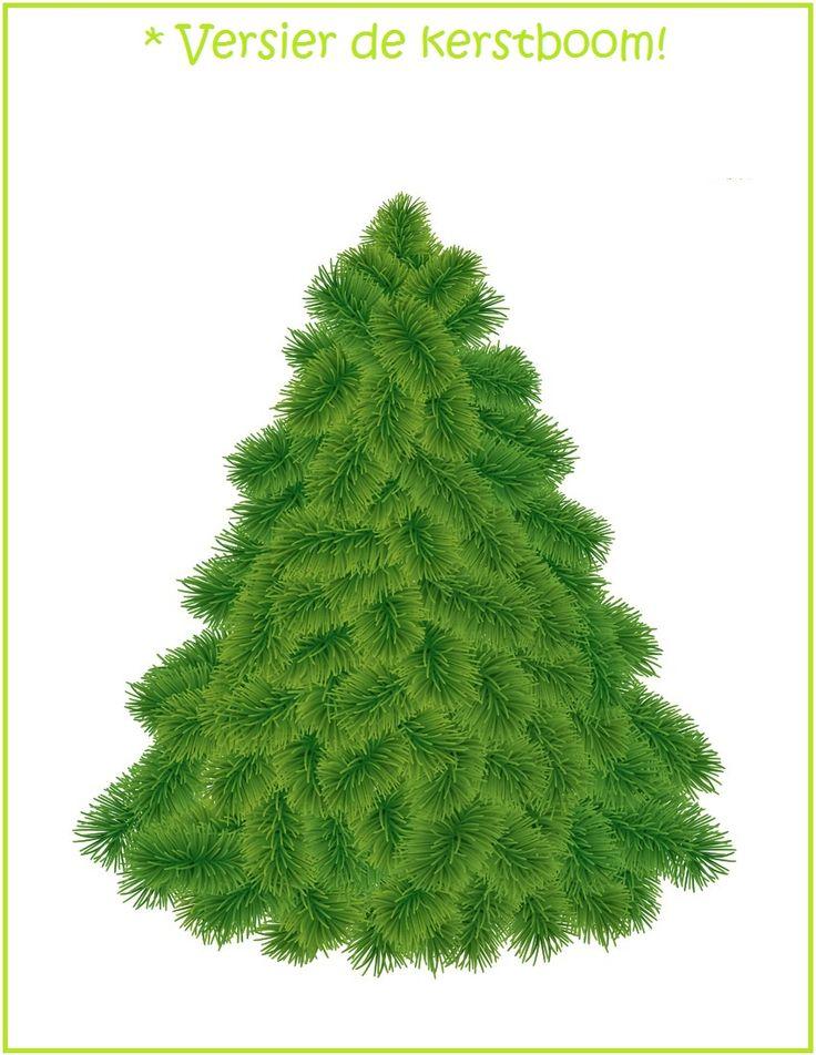 * Kleien: Versier de kerstboom!