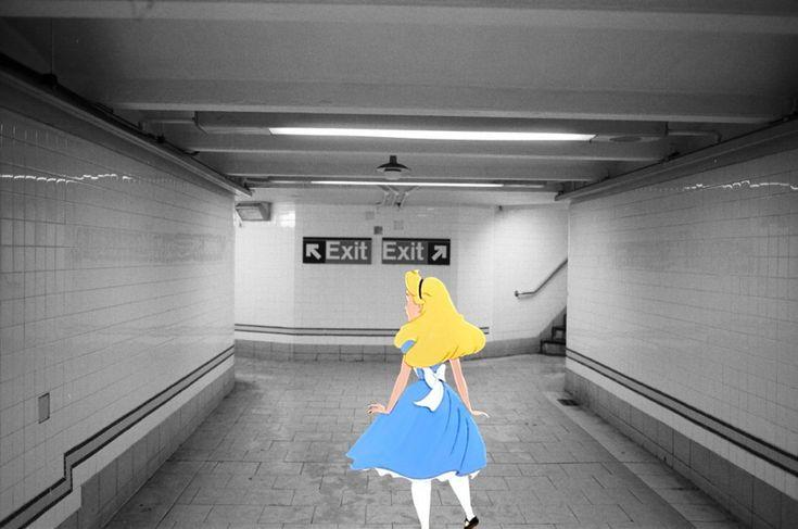 Durante una notte in cui guardava e riguardava ossessivamente gli scatti del suo archivio, il fotografo Harry McNally ha iniziato ad immaginare al loro interno alcuni protagonisti delle fiabe. L'autore, 30enne americano, ha inserito i cartoni animati nelle sue foto scattate a New York. La divertenti
