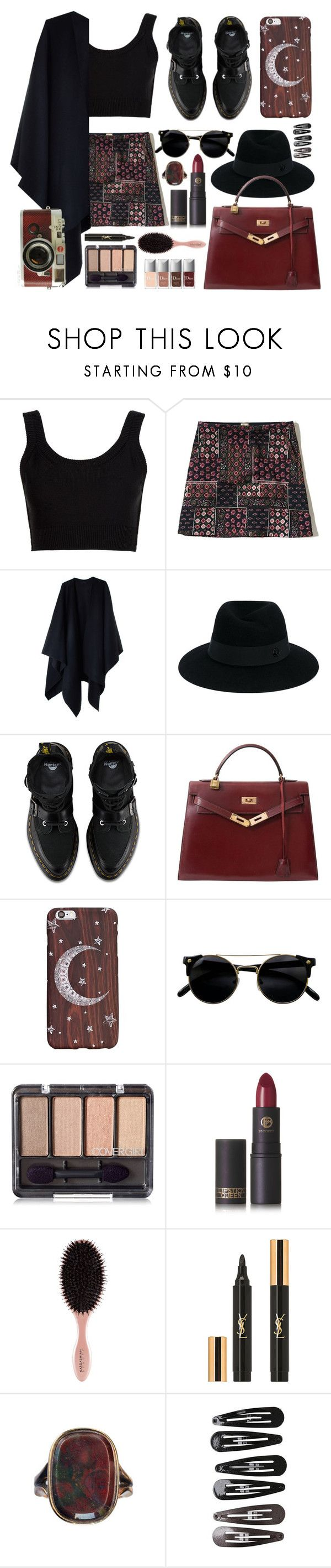 """""""serene syrena"""" by faradila ❤ liked on Polyvore featuring Calvin Klein Collection, Hollister Co., Acne Studios, Maison Michel, Hermès, Lipstick Queen, Yves Saint Laurent, Clips, Leica and layers"""