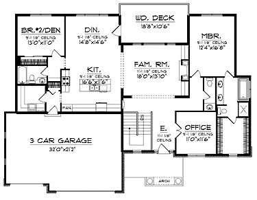10 best bungalow floor plans images on pinterest country for Craftsman house plans one story with basement