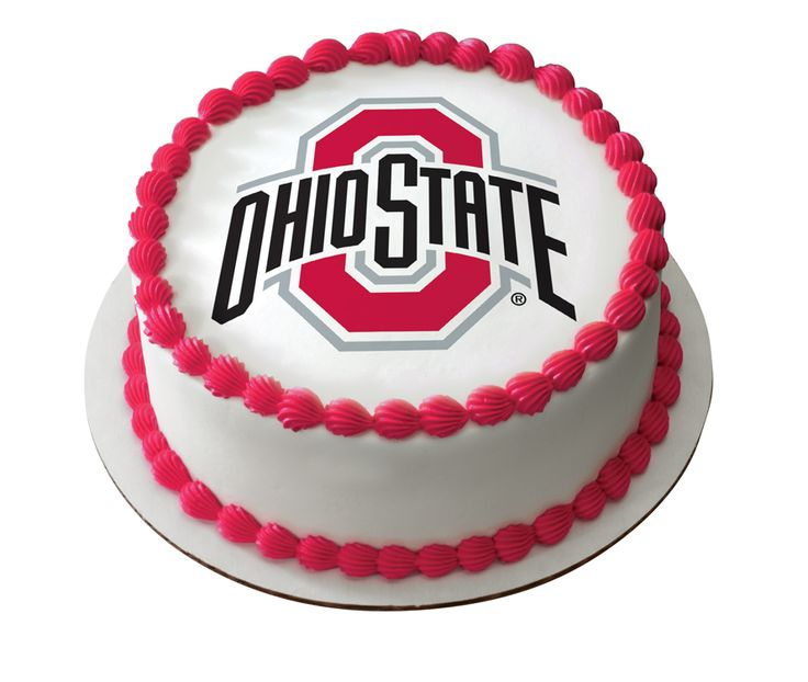 Go Buckeyes! The official Ohio State cake is only available with PhotoCake® Online by DecoPac