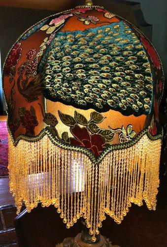 Victorian Peacock Table Lamp Shade