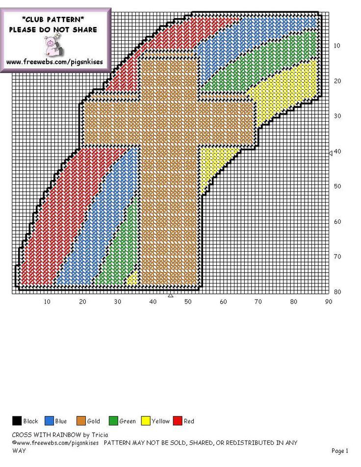 X  Cross Stitch Graph Of Stain Glass Window