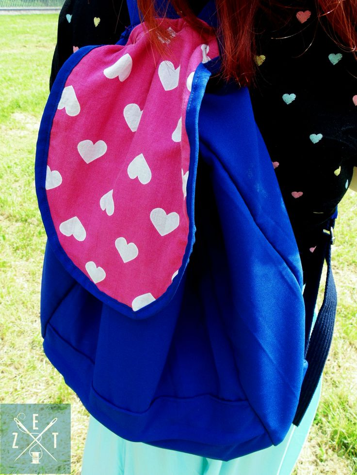 plecak z serduchami #bag #plecak