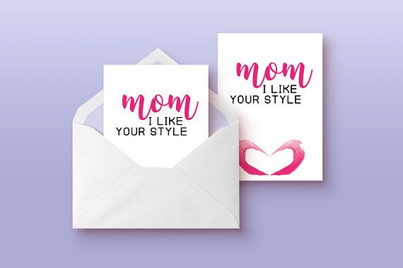 Sweet mothers day card - Print it out and show some love!