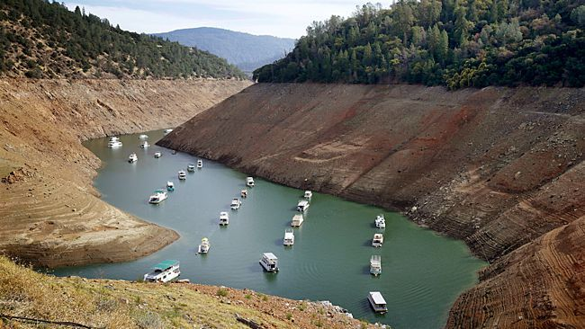 Water level of California's Lake Oroville spikes by 17 feet in 10 days - The water level of California's Lake Oroville has jumped by 17 feet in just 10 days as rounds of heavy rain soaked the region.
