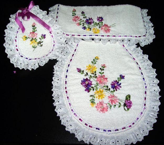 Patrones de flores para bordar en cinta - Imagui