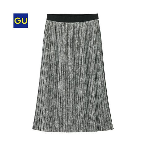 (GU)カットソープリーツスカートRG - GU ジーユー