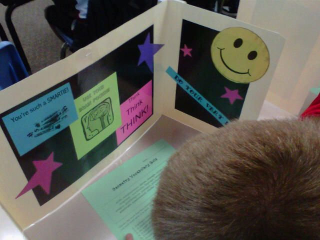 """""""Testing Centers"""" Prevent cheating, anxiety, and boost self confidence....very cute! Do someday before state testing :)"""