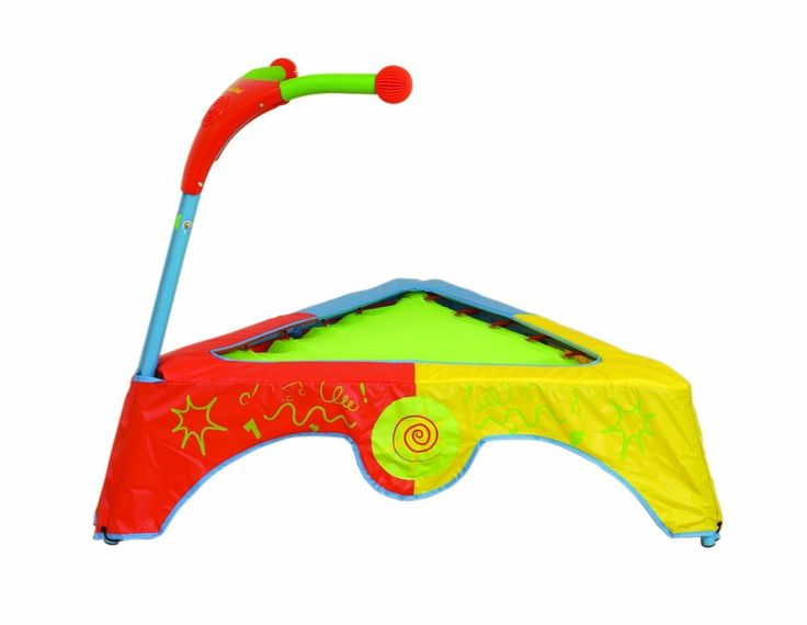 kids trampoline with handle and music