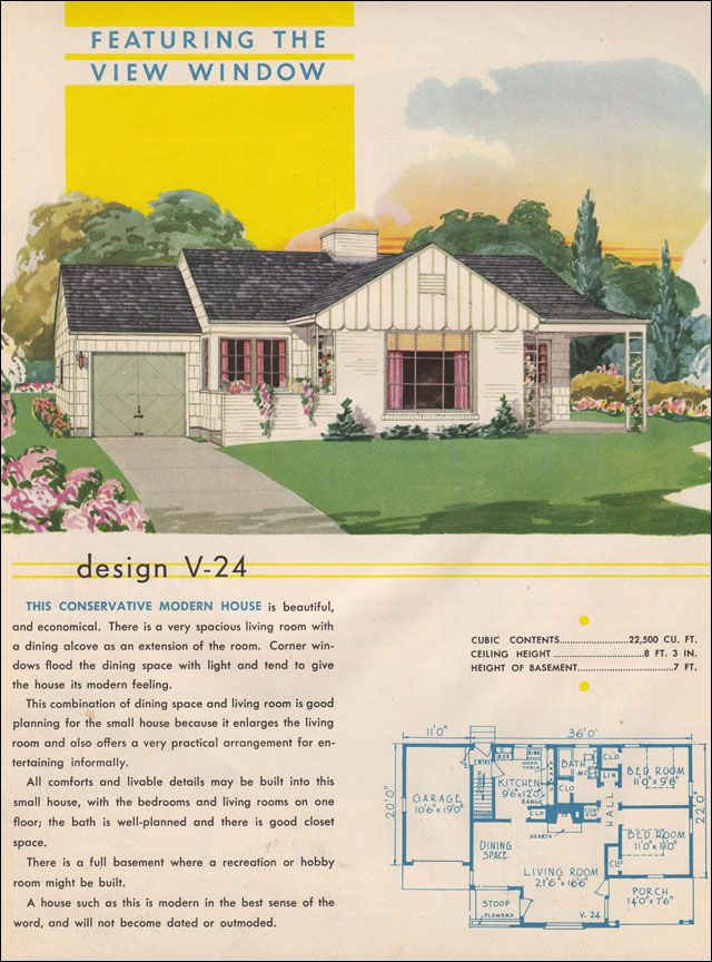 View Window in a Minimal Traditional  1945 Style Trends by National Plan Service