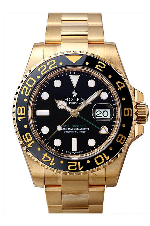 Rolex GMT Master II Yellow Gold Watch 116718 – The Finest Watches