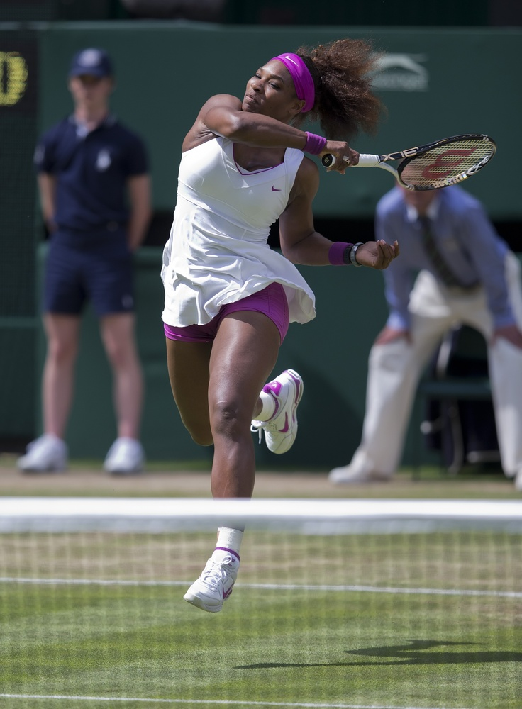 Serena Williams in action during the 2012 Wimbledon Championships.  Serena is set to play her seventh season of World TeamTennis this summer with the Washington Kastles.