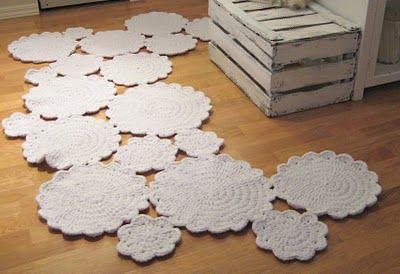snowflake crochet rug