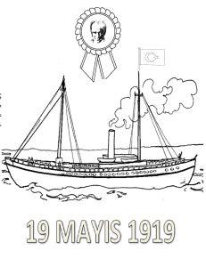 19 Mayıs boyama sayfası