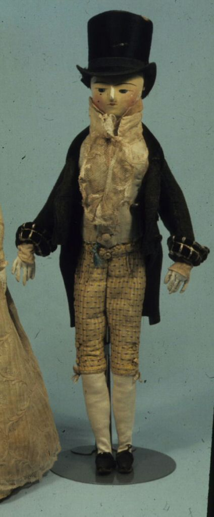 Male doll, ca. 1810. The Strong museum collection.