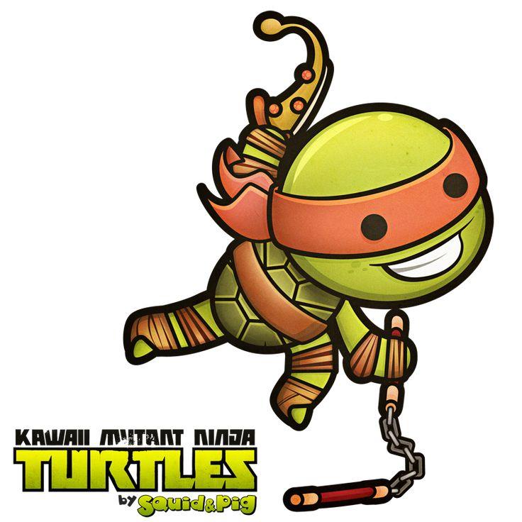 Michelangelo - Kawaii Mutant Ninja Turtles by SquidPig.deviantart.com on @deviantART