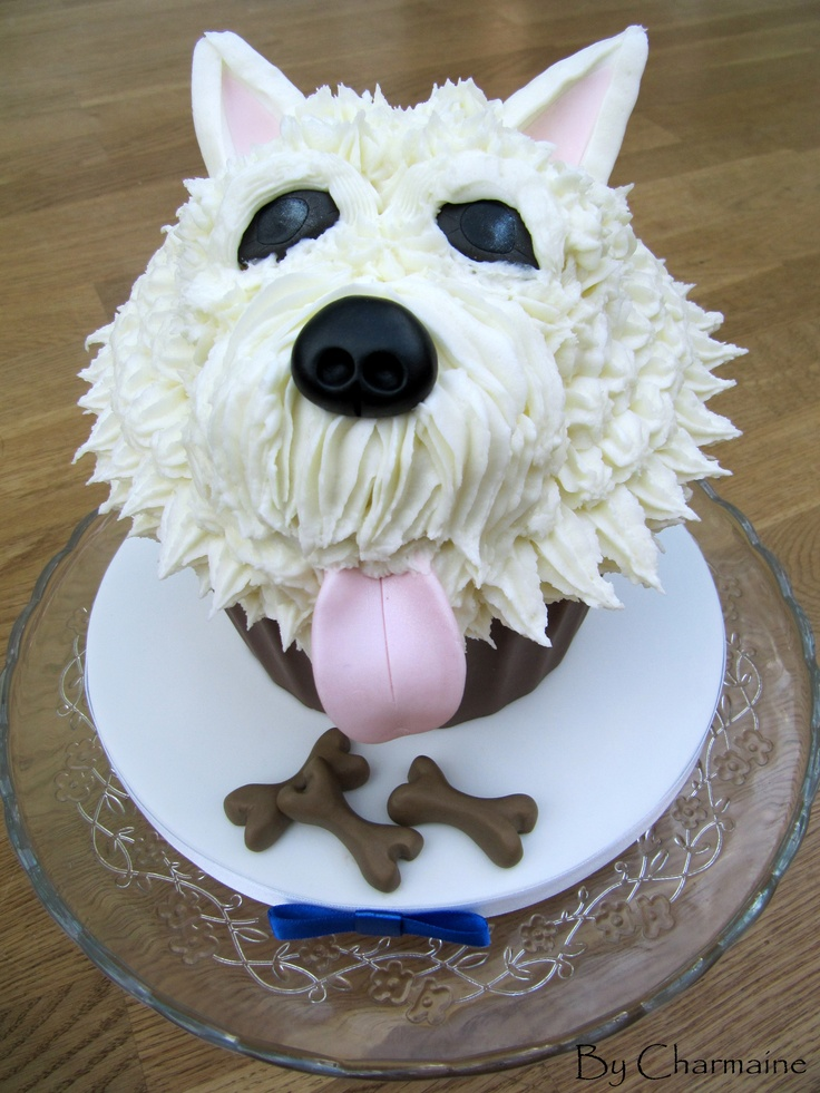 We loved making this Giant 'Westie' Cupcake for a dog lover