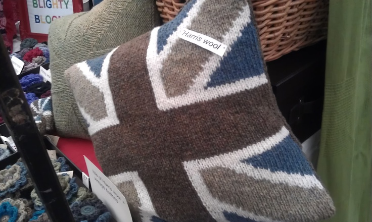 Harris Wool cushion by Blighty Blooms, from £35 Wed/Fri at Greenwich Market.
