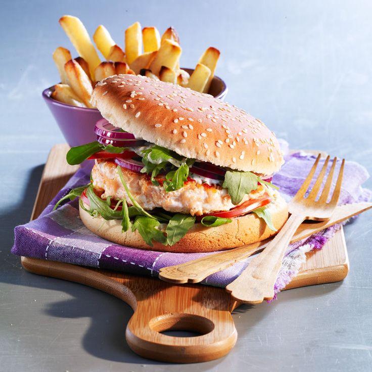 Découvrez la recette Burger aux deux saumons sur cuisineactuelle.fr.