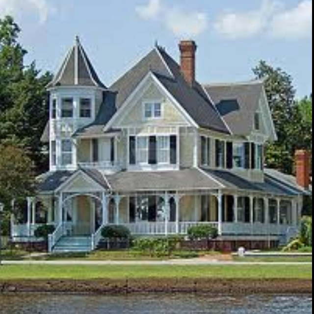 Wrap around porch and turret for the home pinterest for Victorian home plans with turret