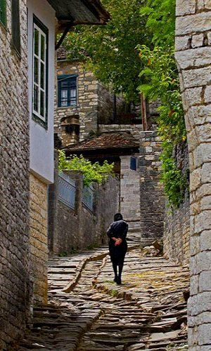 Zagoria ~ Large and Small Papigkon villages, Epirus, Greece