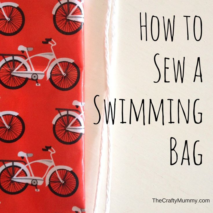 How to Sew a Swimming Bag - Tutorial to sew a drawstring swimming bag from laminated cotton - great for the kids swimming lessons!