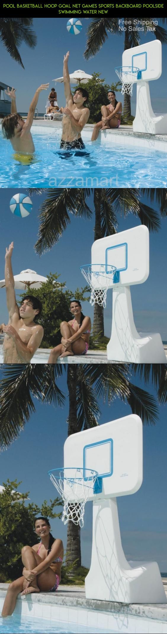 Pool Basketball Hoop Goal Net Games Sports Backboard Poolside Swimming Water New #products #hoop #camera #gadgets #plans #kit #fpv #racing #basketball #poolside #drone #technology #parts #tech #shopping