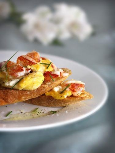 Scrambled eggs and lobster. What could be better? #brunch #eggs # ...