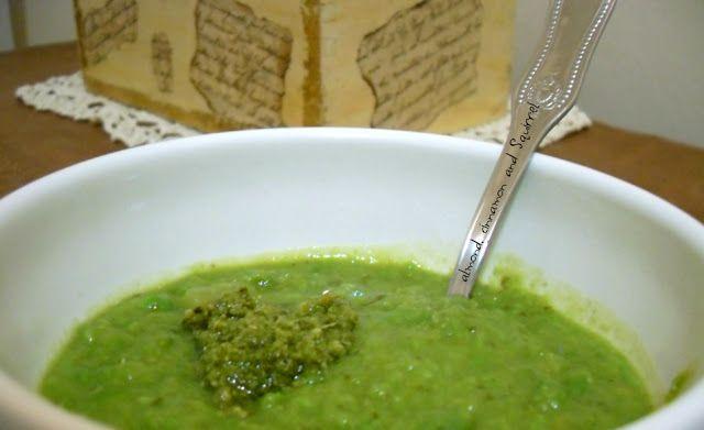 Zuppa di piselli e pesto di Alessandra