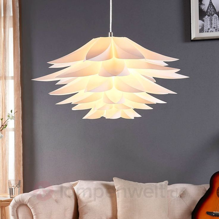 Hängeleuchte Rimon Lampenwelt Kunststoff Weiß Gemütlich Pendelleuchte Wohnzimmer | Möbel & Wohnen, Beleuchtung, Deckenlampen & Kronleuchter | eBay!