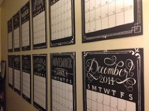 office makeover calendar wall, craft rooms, crafts, home decor, home office, wall decor
