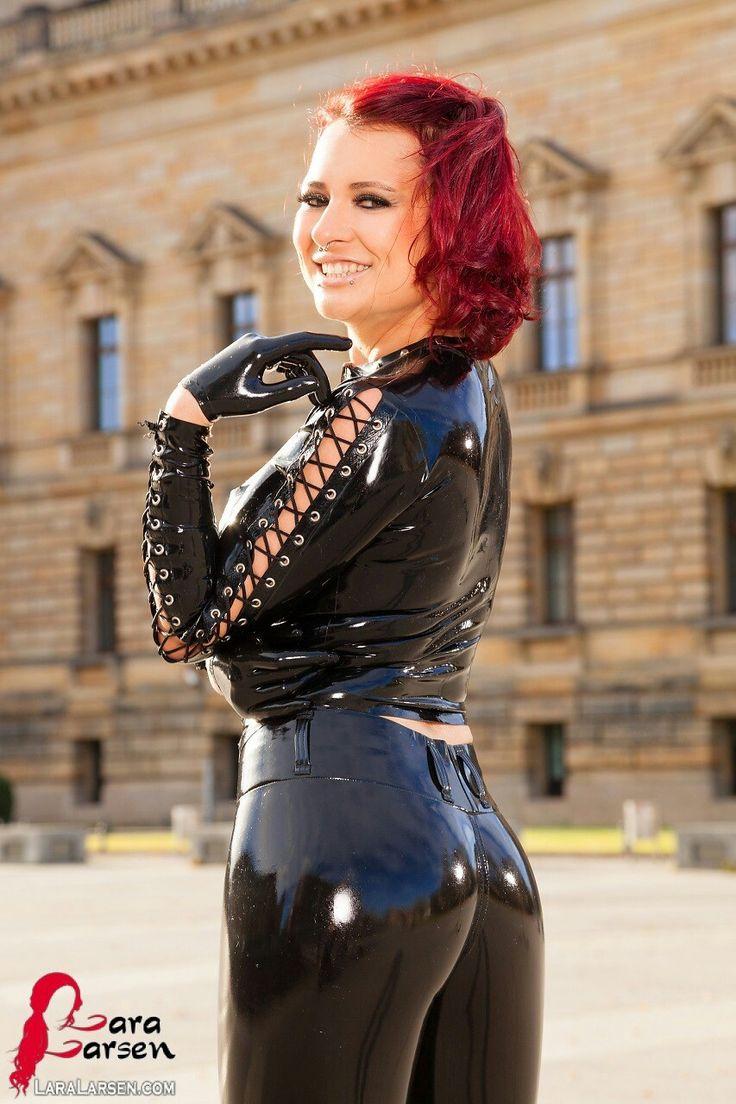 Lara larsen black latex pants tpp | Lara Larsen