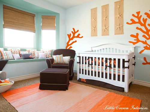 Our nursery inspiration: Ocean Theme, Coral, Color Schemes, Beaches Theme, Kids, Baby Rooms, Nurseries Ideas, Theme Nurseries, Baby Nurseries