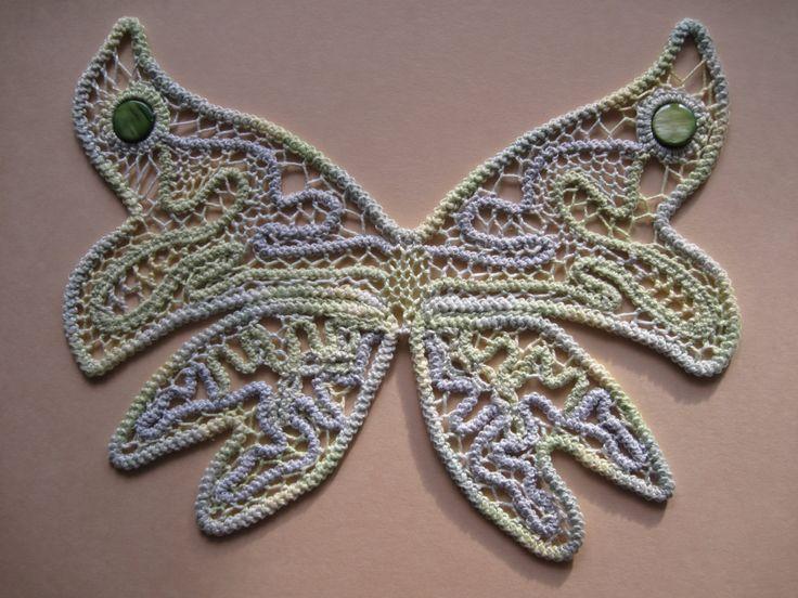 Schmetterling Handgeklöppelte Bild. von Laceandembroidery auf Etsy