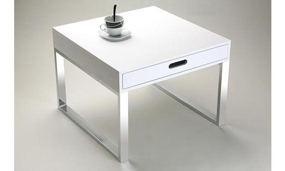 Mesa de centro plegable en color blanco mesa de centro for Mesa centro plegable