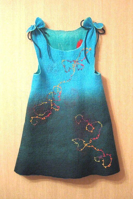 """Валяное платье Небесные маки """" Поиск мастер классов, поделок своими руками и рукоделия на SearchMasterclass.Net"""