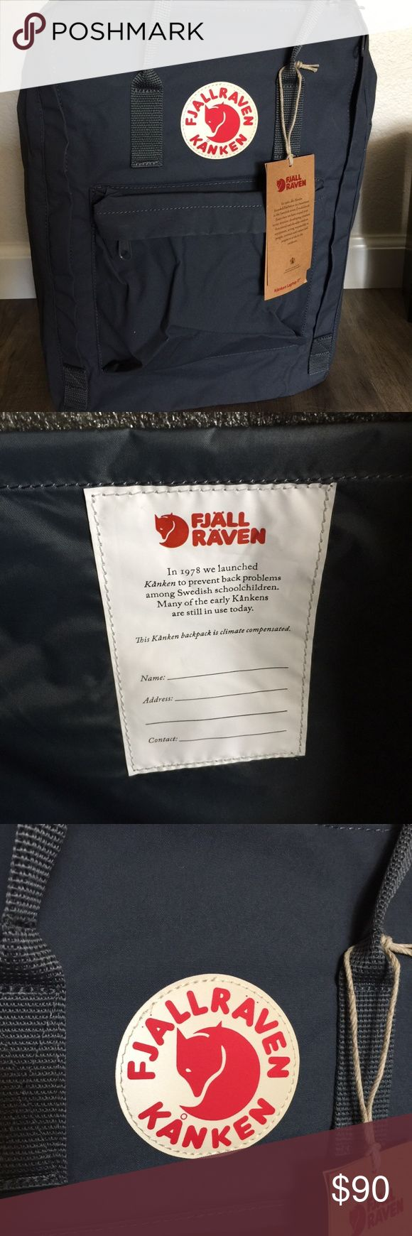 """BRAND NEW Fjallraven 17 Backpack in Graphite Brand new Fjallraven 17 Backpack! Was a gift for a friend but they already have one. (Guess I know their taste lol). Tags are still attached and the plastic where the laptop goes is still in it. Way too much of a hassle to bring it back where I bought it so I'm selling it here.  This 17"""" laptop backpack has padded shoulder straps. Large main compartment, one side pocket and a zippered pocket in the front. The entire bag is made of durable vinyl…"""