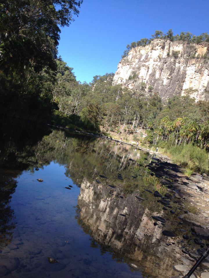 Canarvon Gorge. Take time to reflect.