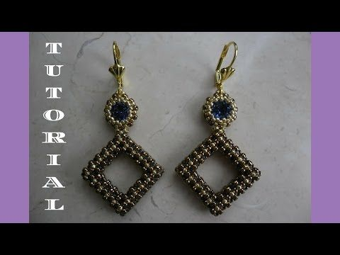 DIY - TUTORIAL Orecchini Elizabeth con tecnica CRAW - YouTube