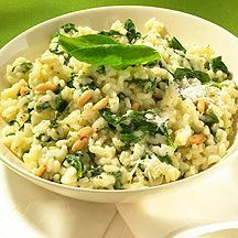 Spinat-Knoblauch-Risotto