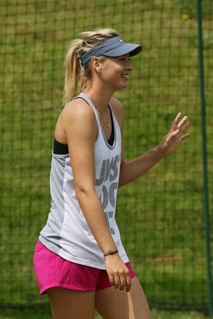 Maria Sharapova Practice session on day two of the Wimbledon Tennis Championships June 25-2013 #WTA #Sharapova #Wimbledon