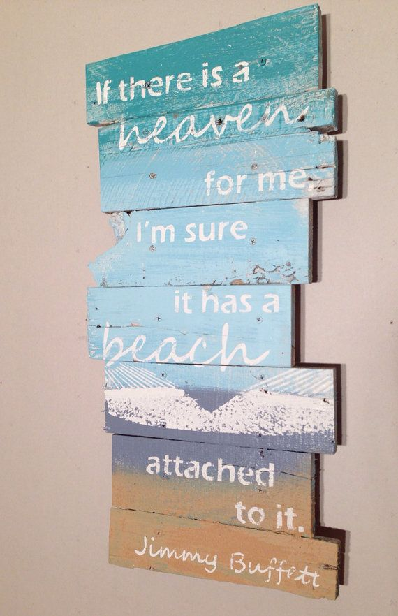 Jimmy Buffett Quote with Beach and Hammock 12 x by WoodburyCreek,
