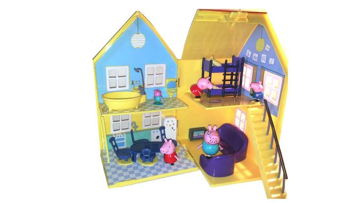peppa pig episode, eat and watch tv at the evening. ep for kids.