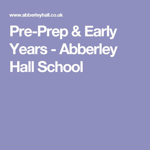 Pre-Prep & Early Years - Abberley Hall School