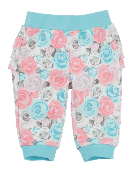 Teeny Weeny Rose Print Fleece Pant with Frills product photo