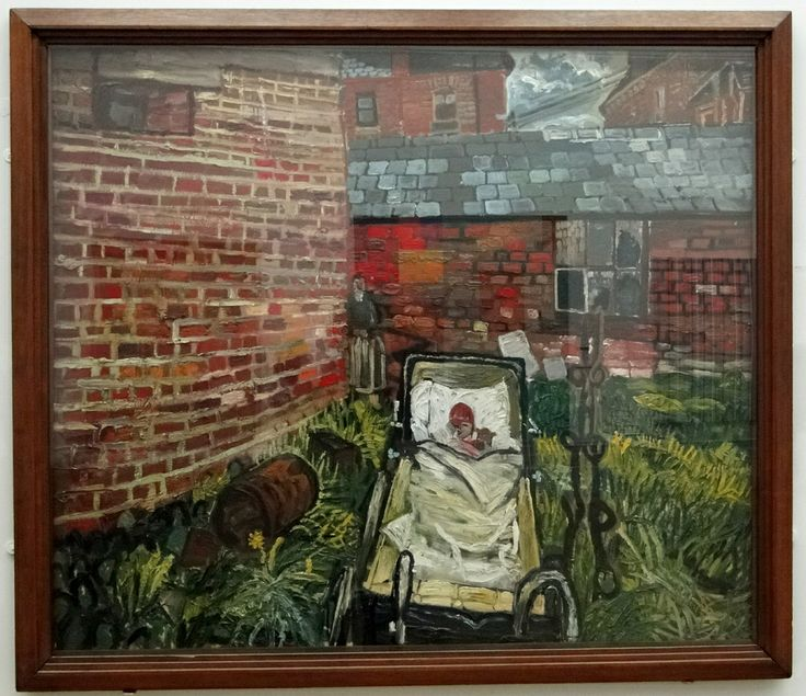John Bratby   Baby In Pram In Garden, 1956. Find This Pin And More On Kitchen  Sink Realism ...